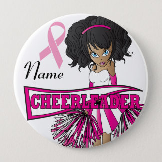 Cheerleader Breast Cancer Support | DIY Name Pinback Button