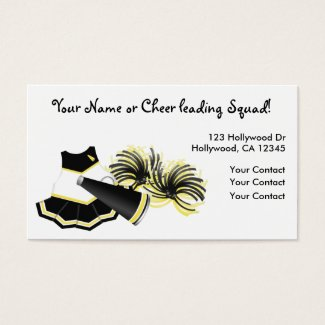 Cheerleader Business Cards