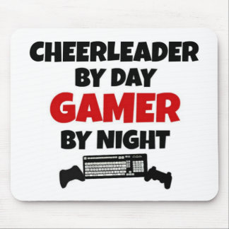 Cheerleader by Day Gamer by Night Mouse Pad