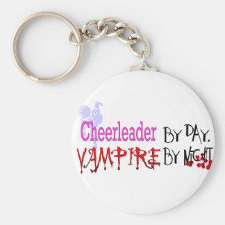 Cheerleader by day, Vampire by Night Basic Round Button Keychain