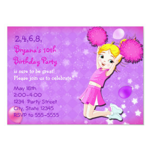 Cheerleader Party Invitations Announcements Zazzle
