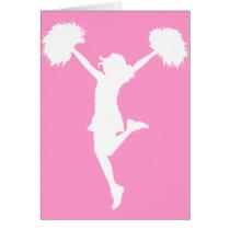 cheer, cheering, cheerleader, teams, al rio, customizable, outline, art, cheerleading, Card with custom graphic design
