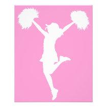 cheer, cheering, cheerleader, teams, al rio, customizable, outline, art, cheerleading, Flyer with custom graphic design