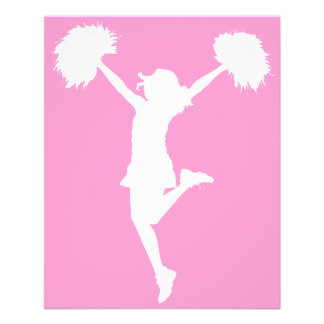 Cheerleader Cheering with Customizable Background Flyers