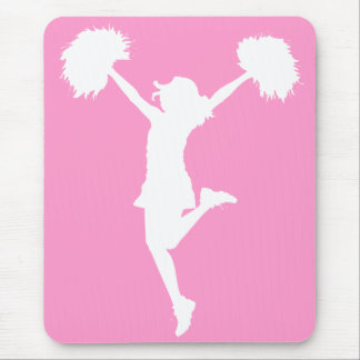 Cheerleader Cheering with Customizable Background Mouse Pad