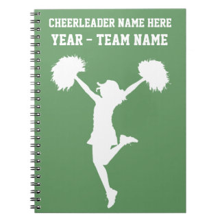 Cheerleader Cheering with Customizable Background Notebook