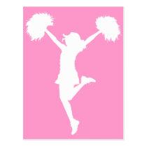 cheer, cheering, cheerleader, teams, al rio, customizable, outline, art, cheerleading, Cartão postal com design gráfico personalizado