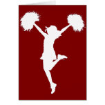 Cheerleader Cheerleading Outline Art by Al Rio Greeting Card