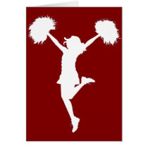 cheer, cheerleading, cheerleader, outline, art, rio, broncos, football, Card with custom graphic design