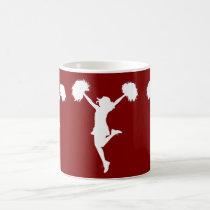 cheer, cheerleading, cheerleader, outline, art, rio, broncos, football, Mug with custom graphic design