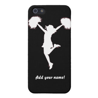Cheerleader Cheerleading Outline Art by Al Rio iPhone SE/5/5s Cover