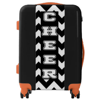 Cheerleader Chevron personalized luggage