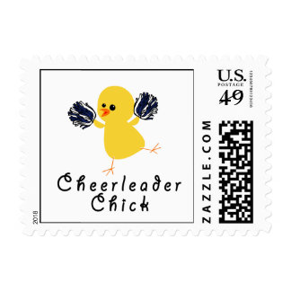 Cheerleader Chick Postage Stamps