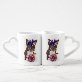 Cheerleader Chihuahua Coffee Mug Set