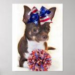 Cheerleader Chihuahua dog Print