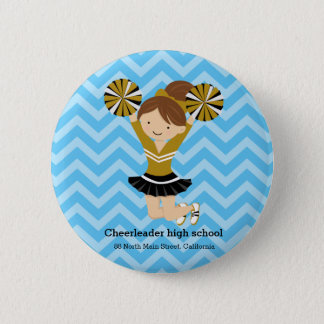 Cheerleader, choose your own background color pinback button