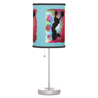 Cheerleader Circle Colorburst ANY COLOR BACKGROUND Desk Lamp