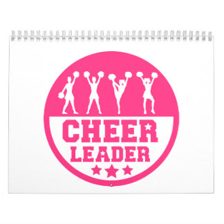 Cheerleader dancing wall calendars