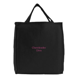 Cheerleader Diva Embroidered Tote Bag
