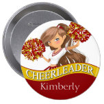 Cheerleader DIY choose your school colors | gold 4 Inch Round Button