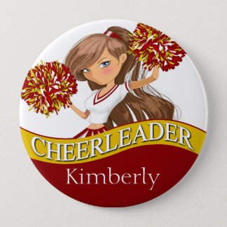 Cheerleader DIY choose your school colors | gold Button