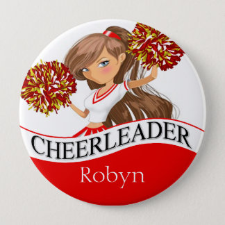 Cheerleader DIY choose your school colors | red Button