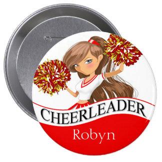 Cheerleader DIY choose your school colors | red Button
