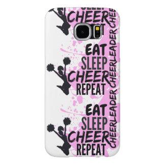 Cheerleader EAT SLEEP CHEER REPEAT Samsung Galaxy S6 Case