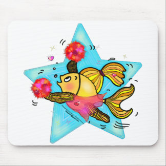 Cheerleader Fish cute funny sparky comics Cheer Mouse Pad