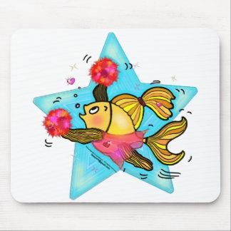 Cheerleader Fish cute funny sparky comics Cheer Mouse Pad