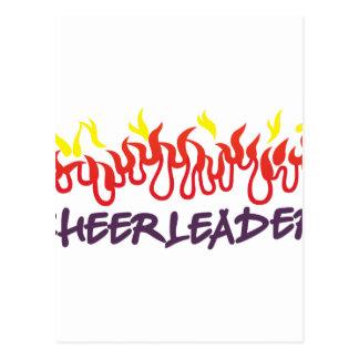 Cheerleader Flames Postcard