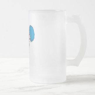 cheerleader football frosted glass beer mug
