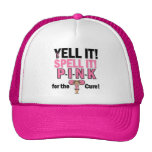 Cheerleader For Breast Cancer Awareness Mesh Hat