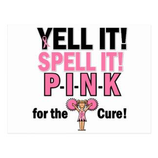 Cheerleader For Breast Cancer Awareness Postcard