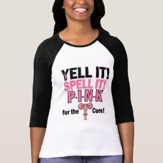 Cheerleader For Breast Cancer Awareness Tees