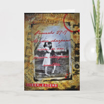 Cheerleader Friend Photo Art Card