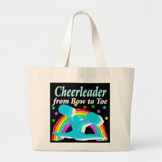CHEERLEADER FROM BOW TO TOW LARGE TOTE BAG