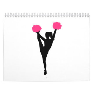 Cheerleader girl calendar