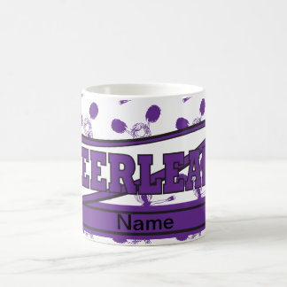 Cheerleader Girl in Purple | Personalize Coffee Mug