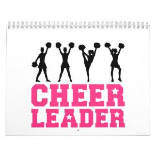 Cheerleader girls dancing calendar