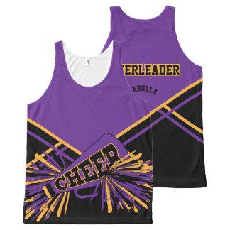 Cheerleader - Gold, Purple & Black All-Over-Print Tank Top