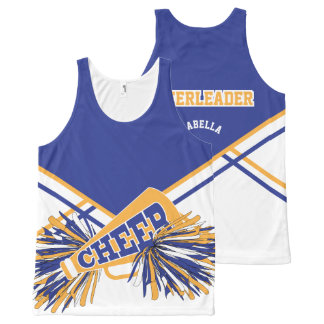 Cheerleader - Gold, White & Black All-Over-Print Tank Top