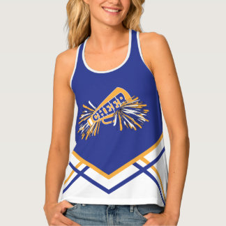 Cheerleader - Gold, White & Blue Tank Top