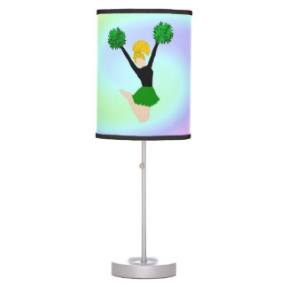 Cheerleader Green Pastel Wave Table Lamp