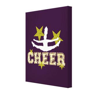 Cheerleader gymnast canvas print