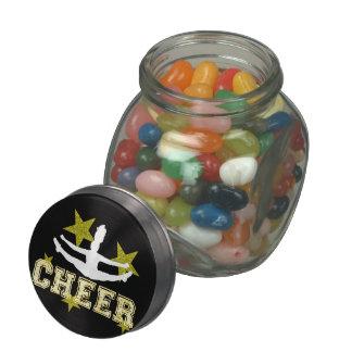 Cheerleader gymnast jelly belly candy jar