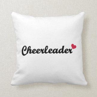 Cheerleader heart pillow