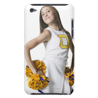 Cheerleader holding pom-poms iPod touch case