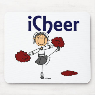 Cheerleader I Cheer Stick Figure Mouse Pad