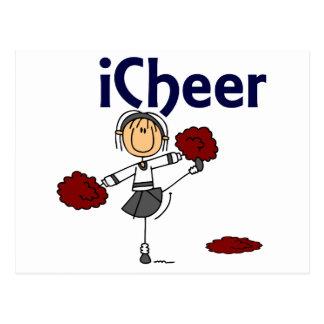 Cheerleader I Cheer Stick Figure Postcard
